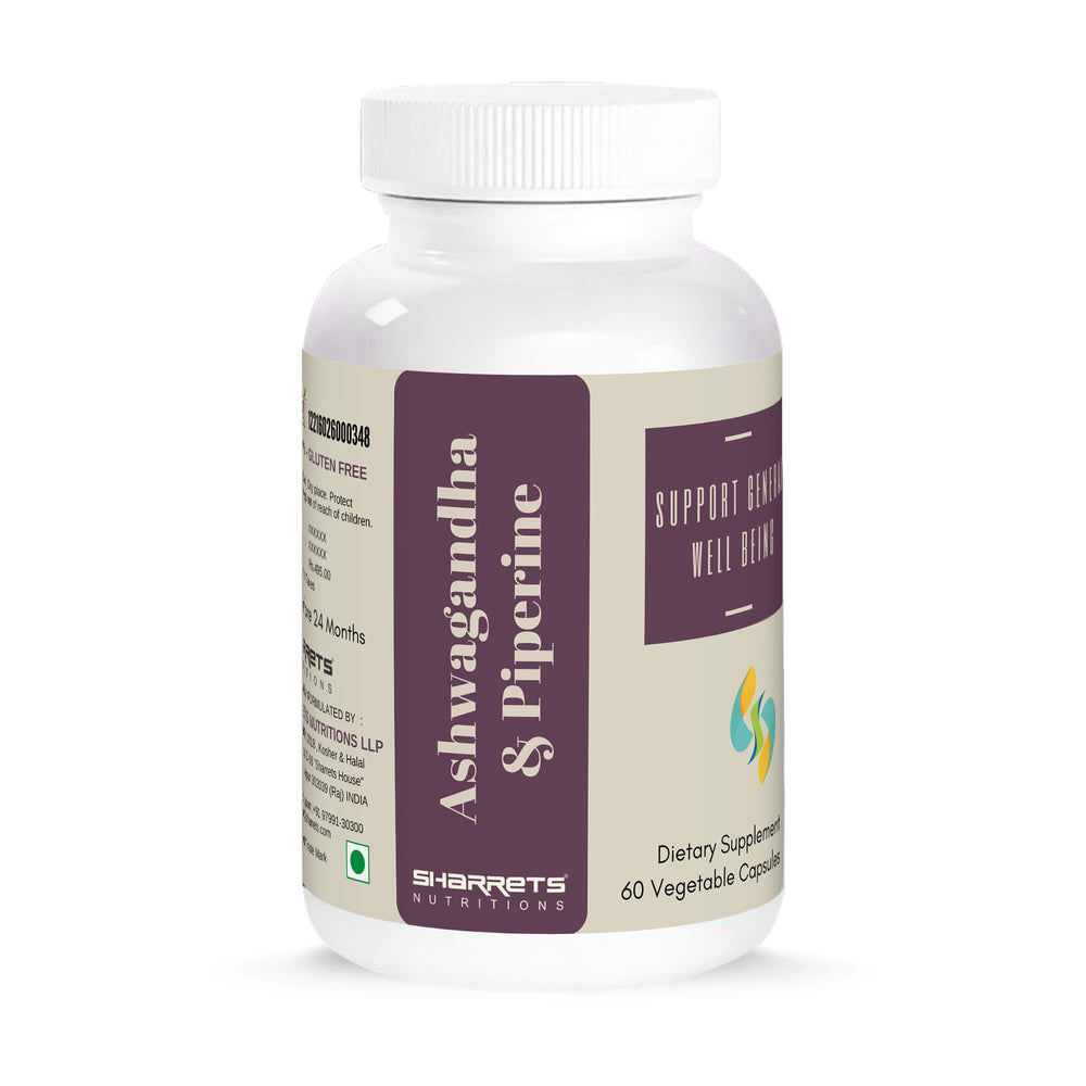 Ashwagandha and piperine capsules- Sharrets Nutritions