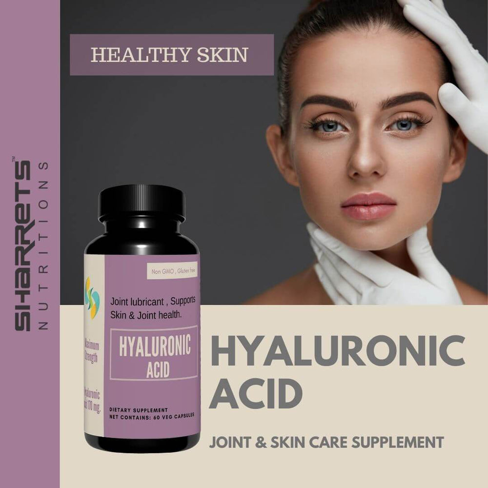 Hyaluronic acid 170 mg Vegetable capsules - Sharrets Nutritions LLP , India