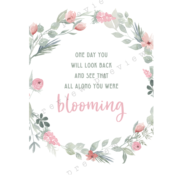 Blooming A5 Print