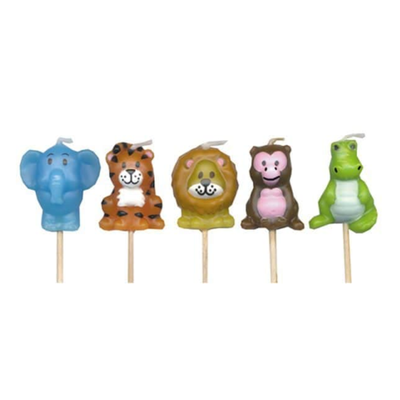 Smiling Faces Jungle Candle Set