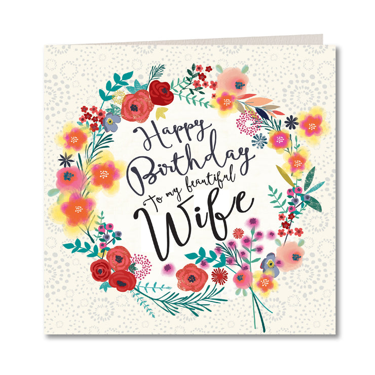 Laura Darrington Happy Birthday Beautiful Wife Card