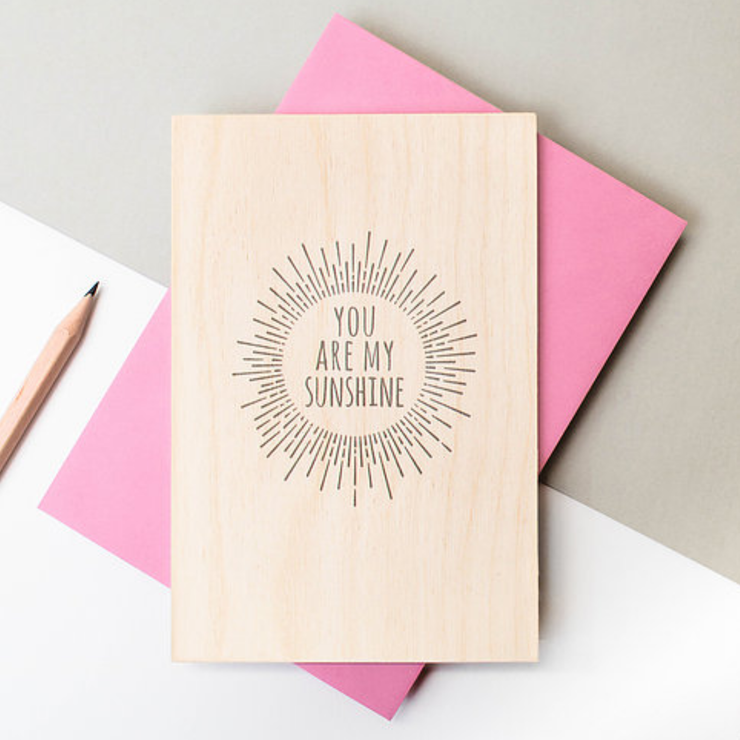 Precious Metals Wooden Keepsake Card My Sunshine