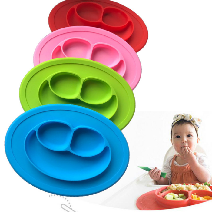 Anti-spill 360 Rotate Baby Solid Feeding Plate