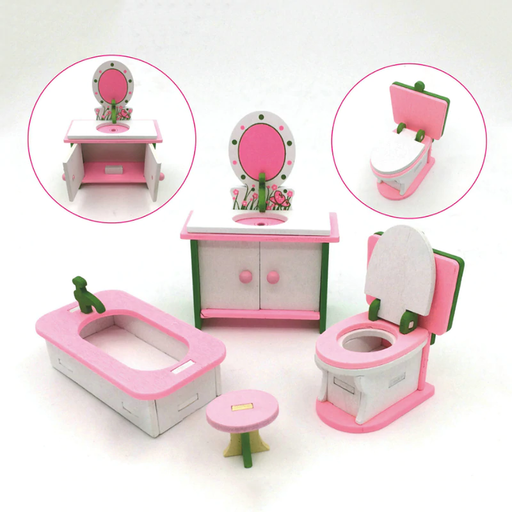 1 set Baby Wooden Dollhouse Furniture
