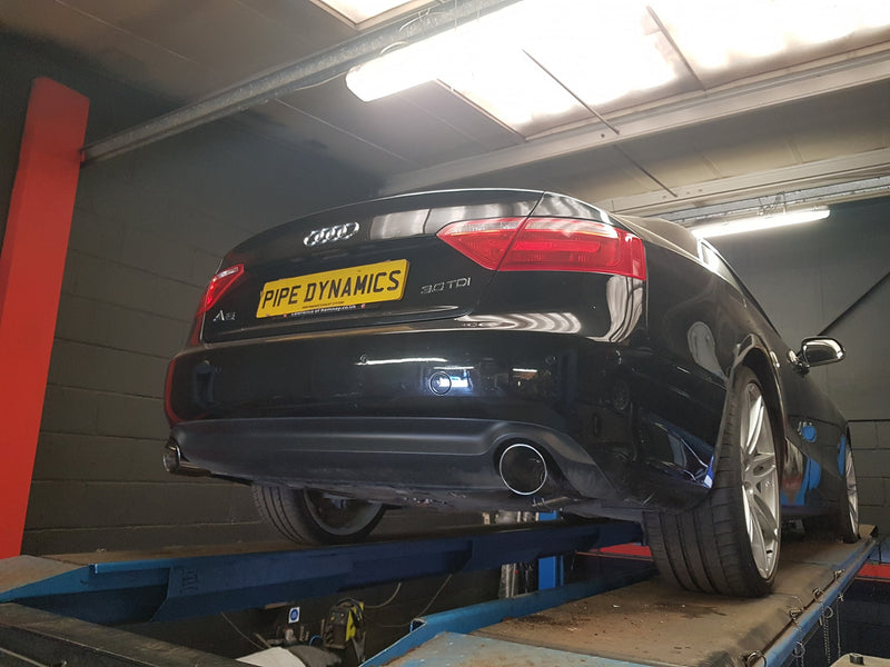 AUDI A5 QUATTRO Coupe/Cabrio 3.0 TDi V6 (239 - 245 Hp 2008+) - Back Box Deletes Pipe Dynamics Audi