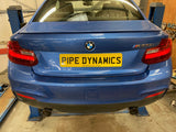 BMW M235i F22 (N55) - BACK BOX DELETE Pipe Dynamics BMW