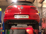 VW Golf MK7 2.0 GTD (without sound pack) Back Box Delete - GTI Style Dual Conversion Pipe Dynamics Performance Exhaust