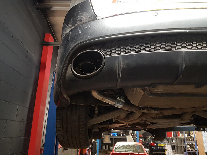 Audi RS4 B8  Back Box Deletes Pipe Dynamics rs4