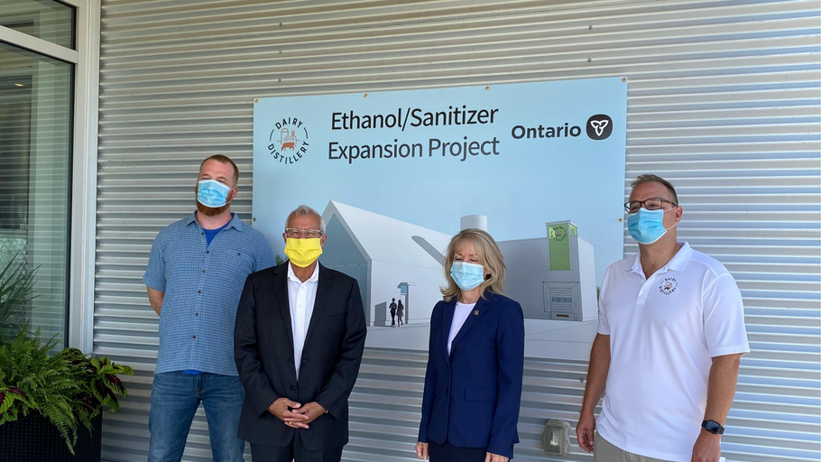 Help from the Ontario government to scale our alcohol production for hand sanitizer