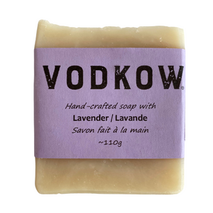 Vodkow hand-crafted soap with lavender