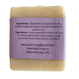 vodkow soap with lavender ingredients by Maximal Living