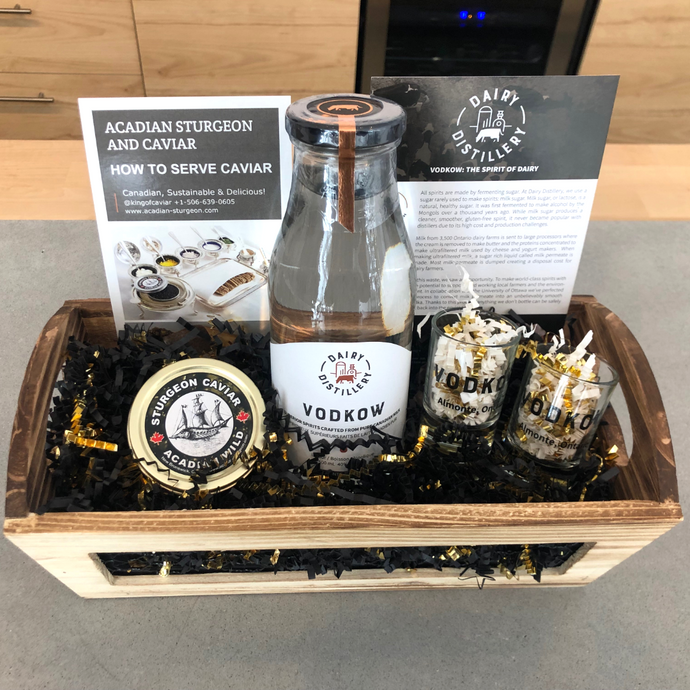 Vodkow and Caviar Gift Basket (Pick up in store)