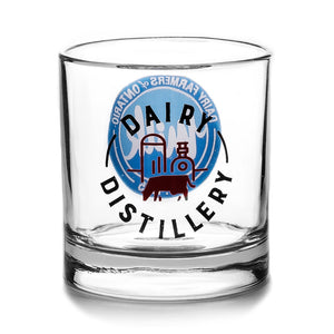 Tumbler with Dairy Distillery Logo