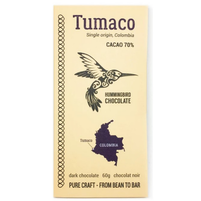 Dark Milk Chocolate Tumaco 70% Cacao