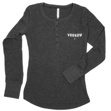 Load image into Gallery viewer, VODKOW Vintage Thermal Long-Sleeved Henley (Ladies)