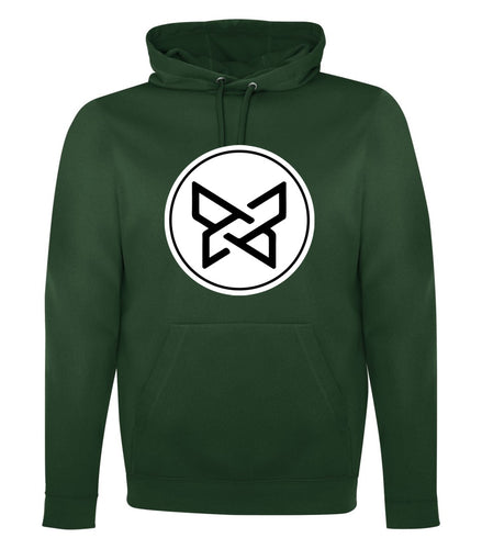 100% Polyester Fleece Hoodie - Forest Green