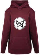 Load image into Gallery viewer, 100% Polyester Fleece Hoodie - Maroon