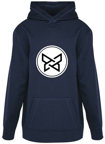 100% Polyester Fleece Hoodie - True Navy