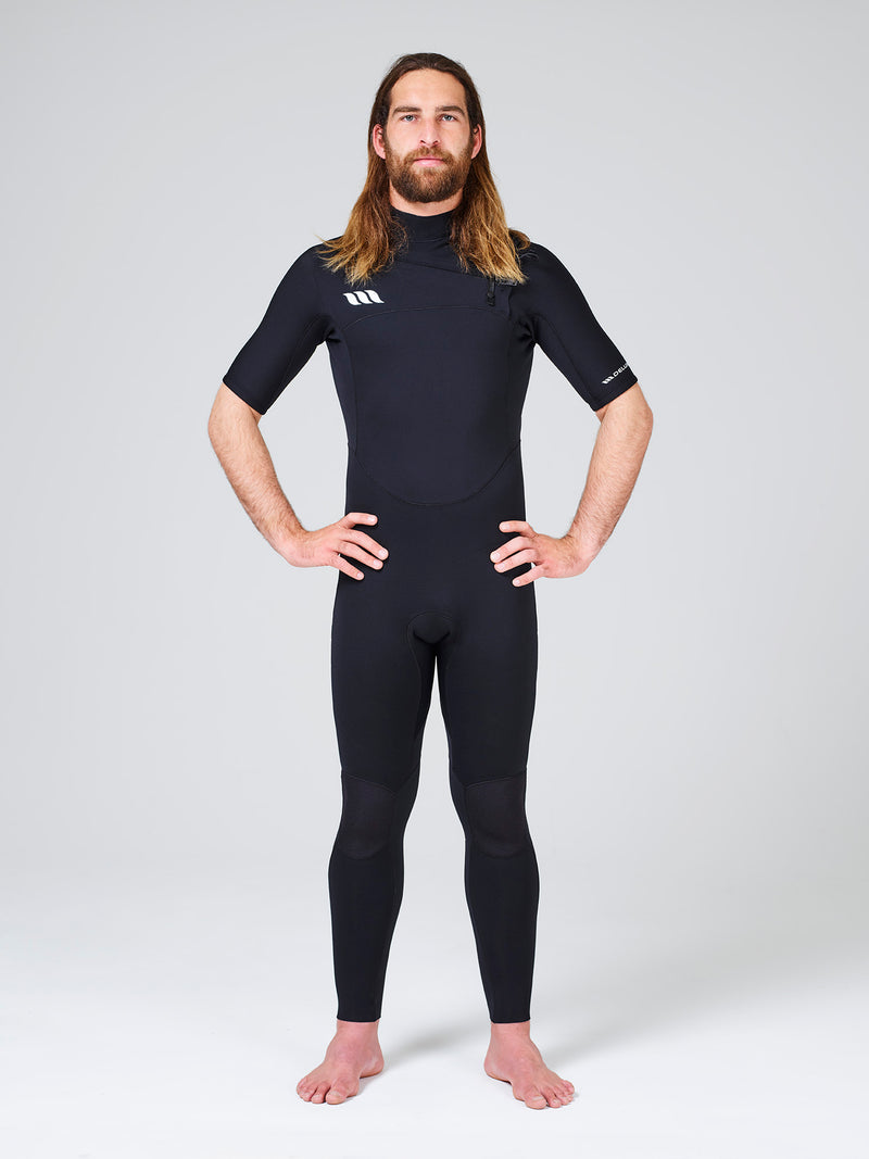 Deluxe 2x2 Short Arm Steamer Mens Wetsuit - Chest Zip