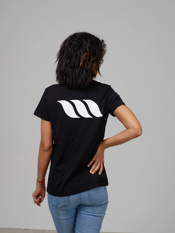 Womens Maple T-Shirt - Black