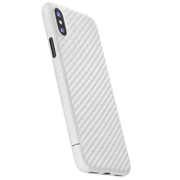 Carbon-Cover für iPhone XS/XR – Pearl White Limited Edition