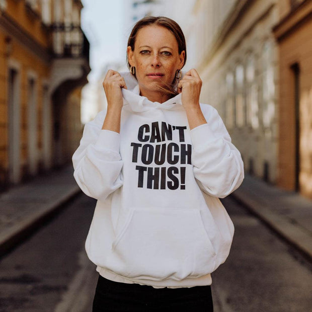 "WOMAN Hoodie ""Can't touch this"""