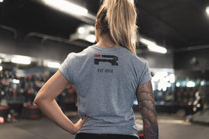 PROPERTY OF IRON REBEL TRI-BLEND (GREY)