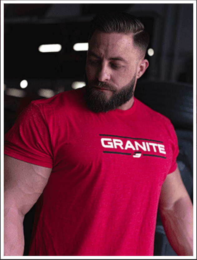 Load image into Gallery viewer, GRANITE CHISELED T-SHIRT (RED)