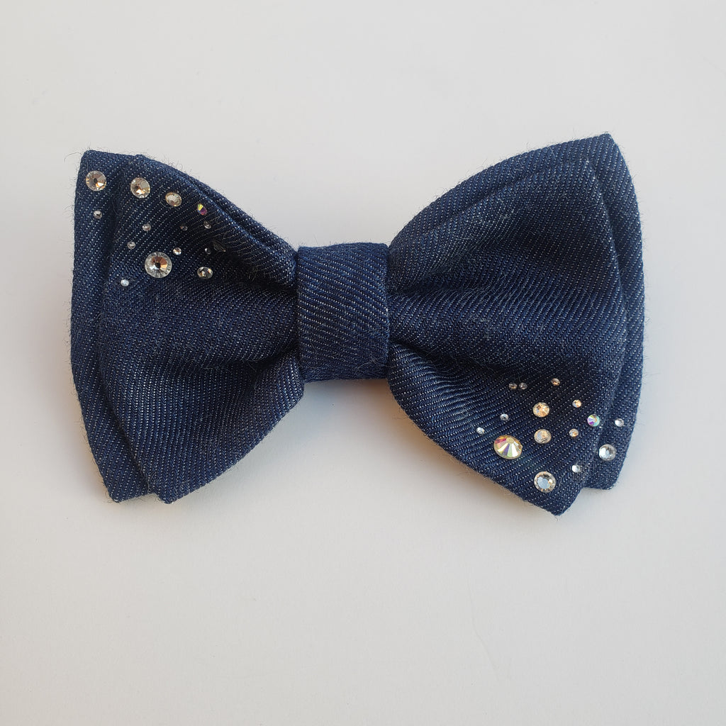 Ladies Diamond Diva Clip-on Bow Tie