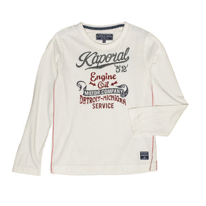 Kaporal Embroidery Long Sleeve Cotton Top