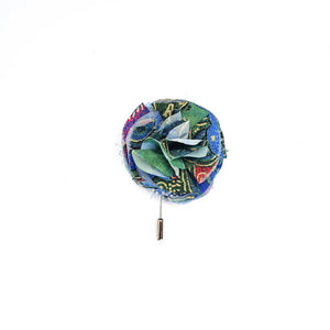 COSMIC PAISLEY LIMITED EDITION FLOWER LAPEL PIN