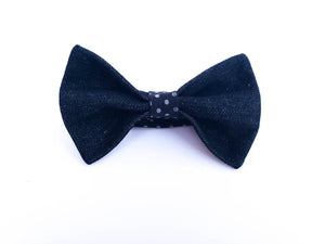 LIKE FATHER, LIKE SON FATHERS DAY GIFTS - DENIM DOTS BOW TIE