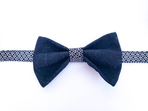 BLACK DIAMOND DENIM BOW TIE