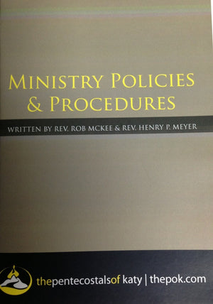 Ministry Policies & Procedures