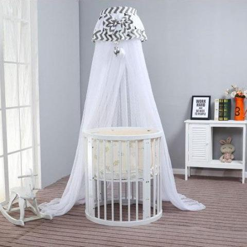 Solid Wood Multifunctional Crib