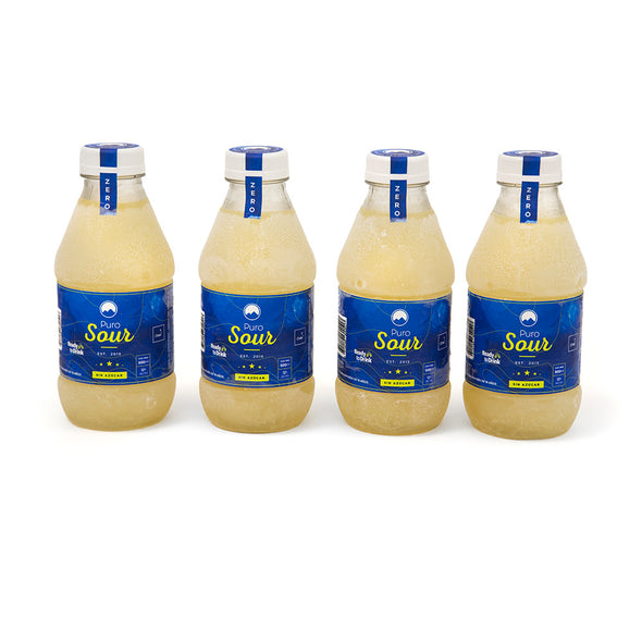 4-PACK ZERO (4 Botellas de Pisco Sour Sin Azúcar)