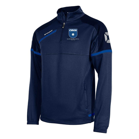 Glasgow Mid Argyll Junior Prestige TTS Half Zip Top Navy
