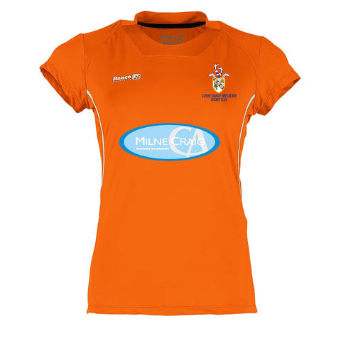 Clydesdale Western Hockey Club Ladies Playing Shirt Orange