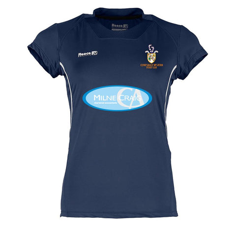 Clydesdale Western Hockey Club Ladies Playing Shirt Navy
