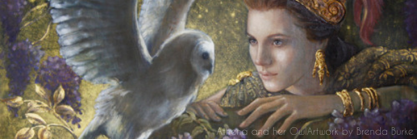 Athena and her Owl Artwork by Brenda Burke