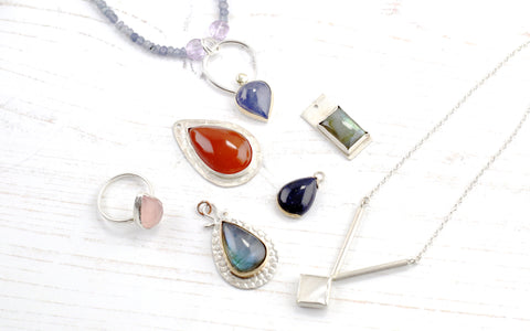 Bezel Set Pendants