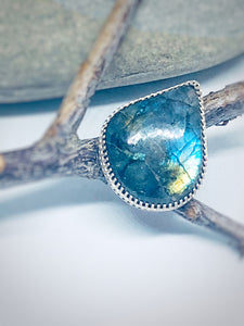 Oil on Water - Labradorite Statement Ring