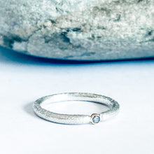 Load image into Gallery viewer, Salt and Pepper Diamond Stacking Ring