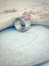 Load image into Gallery viewer, Rugged Sapphire - raw pink sapphire & sterling silver ring
