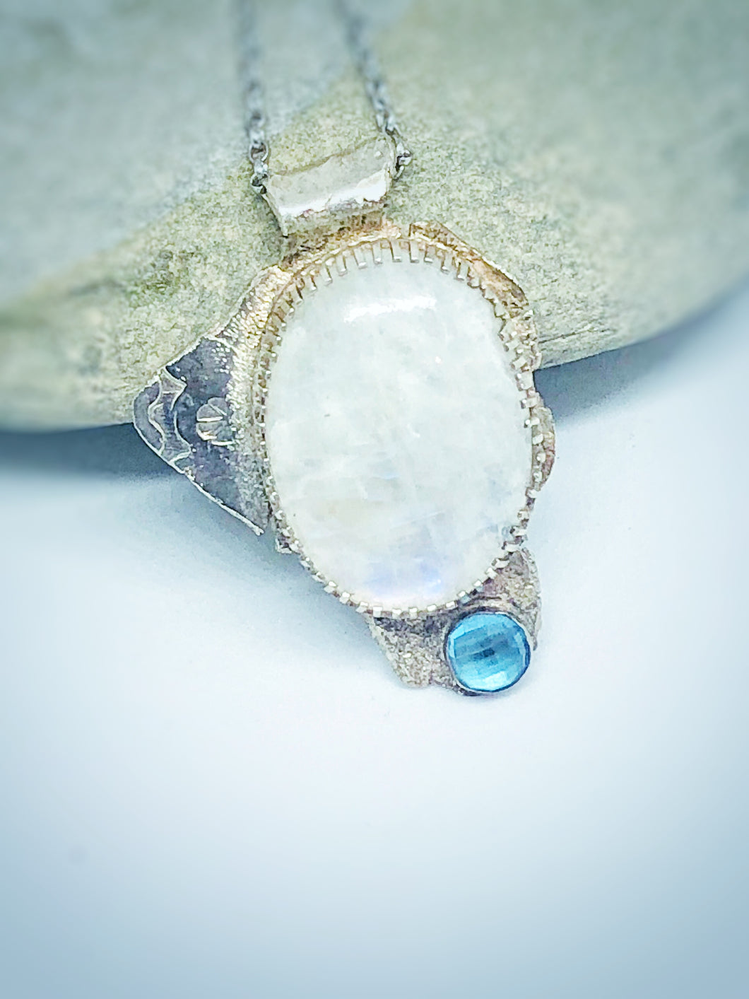 Weeping Moon - Moonstone & Topaz Necklace