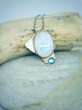 Load image into Gallery viewer, Weeping Moon - Moonstone & Topaz Necklace