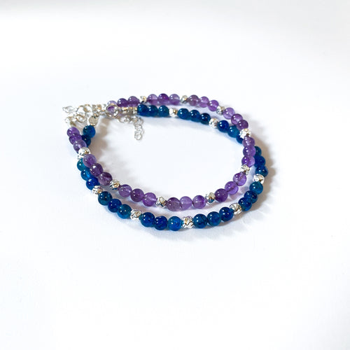 Sterling Silver and Gemstone Beaded Bracelet