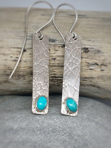 Arizona Turquoise Textured Earrings