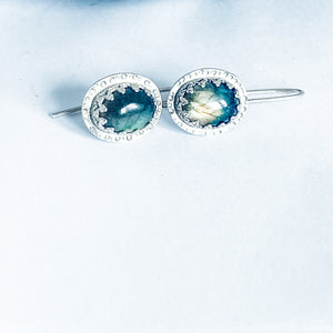 Labradorite Vintage Earrings