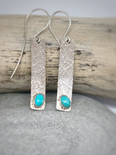 Load image into Gallery viewer, Arizona Turquoise Textured Earrings